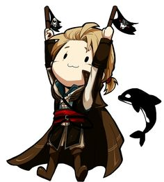 Cute Edward Kenway Chibi ♡ Assassin's Creed IV Black Flag.