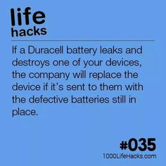 Wanna be that person at the party?..... - life hacks post - Imgur Amazing Life Hacks, Simple Life Hacks, Useful Life Hacks, The More You Know, Good To Know, Duracell Battery, 1000 Lifehacks, Battery Hacks, Hack My Life
