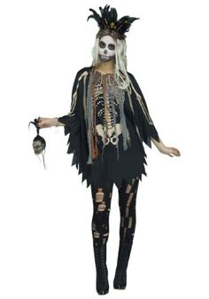 Voodoo Poncho Costume Witch Doctor Costume, Voodoo Costume, Voodoo Halloween, Halloween Look, Halloween Ideas, Halloween Party, Halloween Makeup, Halloween 2019, Voodoo Priestess Costume