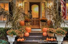 fall porch decorations - Click image to find more DIY & Crafts Pinterest pins