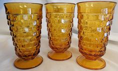Hey, I found this really awesome Etsy listing at https://www.etsy.com/listing/210019073/set-of-3-vintage-amber-fostoria-american