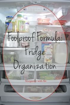 Did you know you can use a Sharpie to organize your fridge? See how this professional organizer tackles fridge organization. Freezer Organization, Refrigerator Organization, Home Organisation, Recipe Organization, Kitchen Organization, Storage Organization, Storage Hacks, Hidden Storage, Kitchen Storage