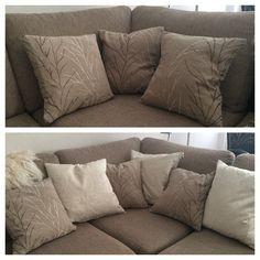 Nature pillows (brown/grey) *agagabri Natural Pillows, Brown And Grey, Throw Pillows, Bed, Nature, Home, Toss Pillows, Naturaleza, Cushions