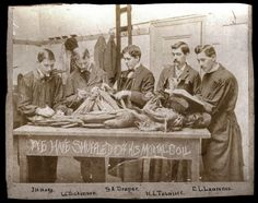 19th century autopsy... It's amazing it was once illegal to dissect a human cadaver.