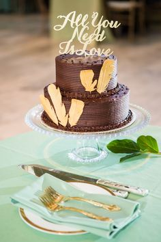 Vegan Wedding Cake by Veggie Galaxy: http://caperscatering.com/spring-wedding-at-multicultural-arts-center/ - Fucci's Photo