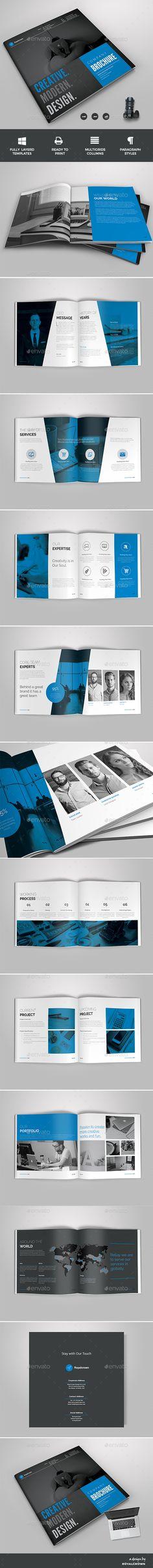Brochure Template InDesign INDD. Download here: https://graphicriver.net/item/brochure/17410244?ref=ksioks