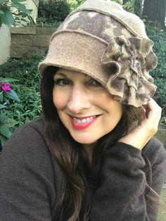 Beautiful Classic Felted Wool Cloche Hat Downton Abbey Kate Middleton London Paris Vintage Retro Sustainable Fashion Style