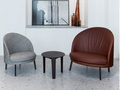 JULES & JIM easy chairs and TABLET table by Claesson Koivisto Rune for Arflex.