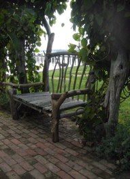 Rustic Garden Bench for sweet heart table