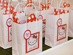 Adorable Red & White Hello Kitty Birthday Party
