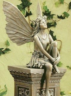 1000 Images About Garden Figurines Hagefigurer On: reading fairy garden statue