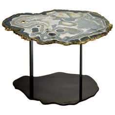 Available at the DD Building suite Resin Furniture, Table Furniture, Furniture Design, Gemstone Countertops, Holly Hunt, Side Coffee Table, Back To Nature, Dollhouse Furniture, Decorative Objects