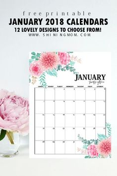 Free calendar for January 2018! Print your free copy! #calendar #2018calendar #freecalendar #freeprintable #printable #planner #plannerlove #calendar2018 #January