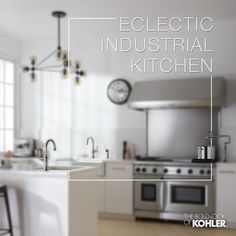 Eclectic Industrial Kitchen