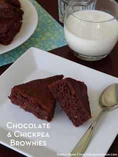 Chocolate & Chickpea Brownies - You can't taste the chickpeas though and it is a great way to get some extra goodness into your kids without them knowing.