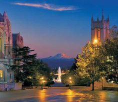 Rainier Vista, University of Washington. aka Red Square at UW.