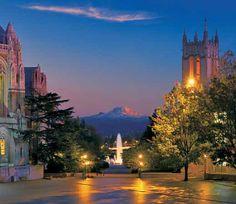 Rainier Vista, University of Washington.  aka Red Square at UW.