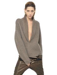 HAIDER ACKERMANN  RIBBED KNIT WOOL SWEATER Fashion Fall Winter 2013-14