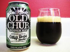 From Oskar Blues Old Chub is a Scotch Ale / Wee Heavy and 8 ABV.  The appearance is dark reddish brown with a two finger head, the nose chocolate malts and booze.  The taste has those sweet chocolate malt notes as well as dark fruit.  Also on the palate is a nice smoky character.  This is just a fantastic Scotch Ale and Oskar Blues continues to be a standout brewery.  My can is from the Brevard NC brewery.  Highly recommended.