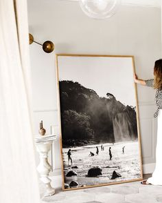 Brisbane-based travel photographer @kararosenlund's impossibly arresting oversized wall art includes romantic black and white scenes,…