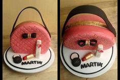 Torta bolso y maquillaje / Bag cake, makeup cake