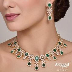Diamond Jewellery India Designs soon Diamond Necklace India Grt Indian Wedding Jewelry, Indian Jewelry, Bridal Jewelry, Emerald Jewelry, Gold Jewelry, Diamond Jewellery, Resin Jewellery, Diamond Necklace Set, Indian Diamond Necklace