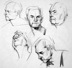 Drawing Heads, Guy Drawing, Life Drawing, Drawing People, Drawing Sketches, Art Drawings, Anatomy Sketches, Anatomy Drawing, Head Anatomy