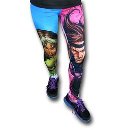 Images of X-Men Rogue & Gambit Leggings  them shoes have got to go!