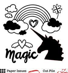 Magic Unicorn Spring Crop Free Cut File