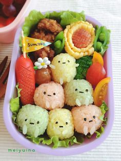 Kawaii bento box - cute Japanese lunch box arrangement Bento Box Lunch For Kids, Bento Kids, Cute Bento Boxes, Bento Food, Lunch Box, Cute Food Art, Love Food, Japanese Food Art, Japanese Lunch