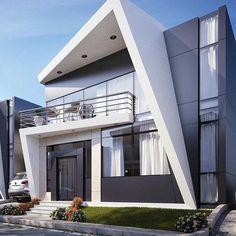 63 modern house designs ever built! Design Villa Moderne, Duplex Design, Modern Villa Design, Bungalow House Design, House Front Design, Urban Design, Modern Architecture House, Interior Architecture, Minimal Architecture