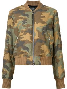Green cotton camouflage print bomber jacket from Amiri.   #fashion #jackets #winter #women #trendalerts #outerwear #nye2018 #nye