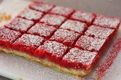... favorite time of the year I still crave for some fresh desserts. I even keep frozen popsicles in the freezer. Is that odd? These Raspberry lemon bars...
