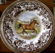 Spode Woodland Horse Plate