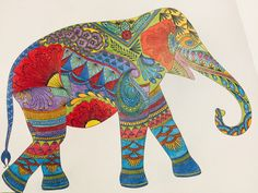 I just finished coloring this elephant.