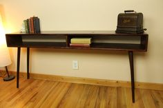 Mid Century Modern Console/Entry Way Table w/ by LindenAvenueNorth