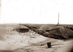 Petersburg, Virginia. Earthworks in front of Petersburg. It was taken in 1865