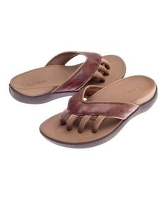 Love this Brown Cloud Leather Sandal by Wellrox on #zulily! #zulilyfinds