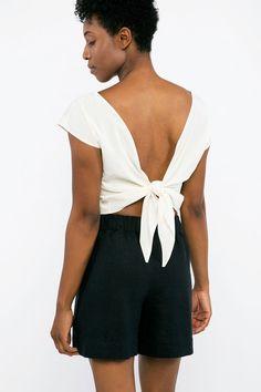 Maxine Crop in Silk Crepe – Elizabeth Suzann