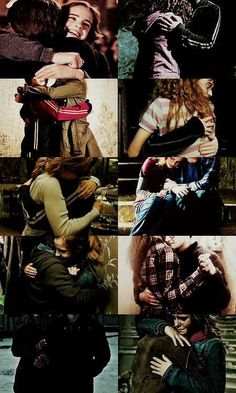 Hugs ^ not just any hugs, they're harmione hugs!!!