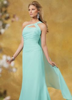 One Shoulder Chiffon Jordan Long Bridesmaid Dress 833 at frenchnovelty.com- Plum