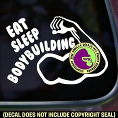 EAT SLEEP BODYBUILDING Vinyl Decal Sticker - Brought to you by Avarsha.com