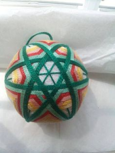 Green and Yellow Star 3 inches diameter by DETemariCreations, $30.00