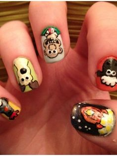 Wallace and Gromit nails :P