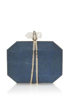Shop Marchesa Iris Clutch in Ocean Stingray at Moda Operandi
