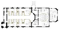 OSA_A184_GROUND PLAN Church Conversions, Brickwork, It Cast, Floor Plans, The Unit, How To Plan, Design, Masonry Construction, Design Comics