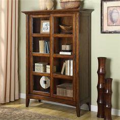Falls Village Sliding Door Bookcase | Riverside Furniture
