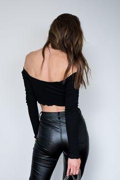 La Bamba Long Sleeve Top - Black