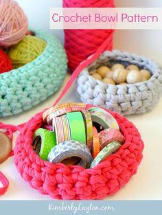 Handmade Crochet Bowl Pattern by Kimberly Layton