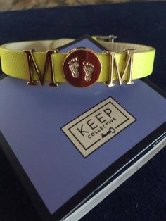 Keep collective charm bracelet on reversible leather keeper!! https://www.keep-collective.com/with/kristyschalk